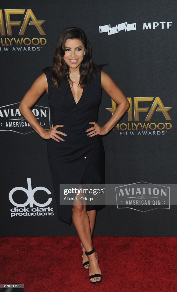 Actress Eva Longoria arrives for the 21st Annual Hollywood Film Awards held at The Beverly Hilton Hotel on November 5, 2017 in Beverly Hills, California.