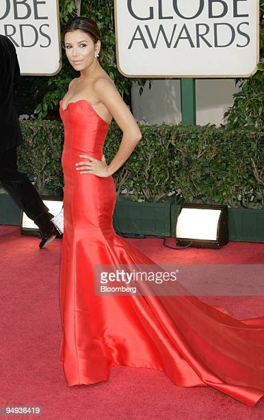 Actress Eva Longoria arrives for the 66th Annual Golden Globe Awards in Beverly Hills California US on Sunday Jan 11 2009 Heath Ledger received a...