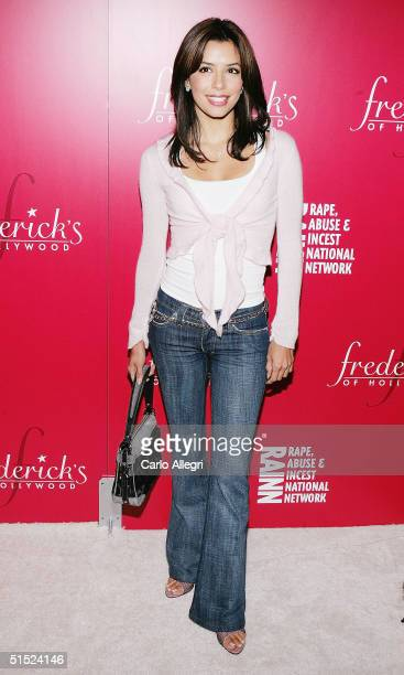 Actress Eva Longoria arrives for the 'Of Corsets For A Good Cause' event at the Roosevelt Hotel October 20 2004 in Los Angeles California