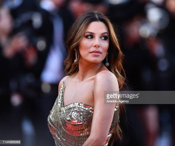 US actress Eva Longoria arrives for the screening of the film 'Rocketman' during the 72nd annual Cannes Film Festival in Cannes France on May 16 2019