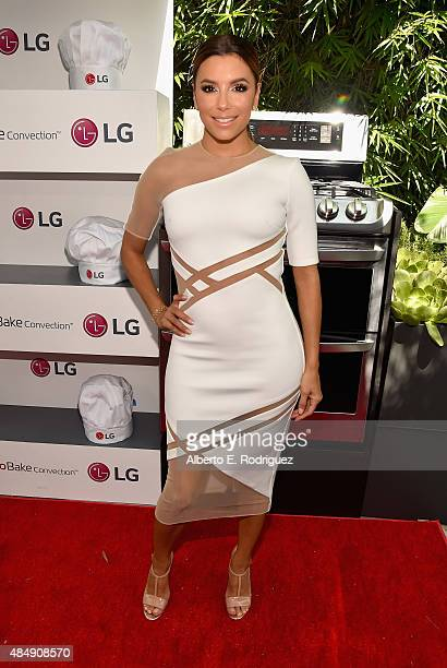 Actress Eva Longoria attends Eva Longoria and LG Electronics Host 'Fam To Table' Series at The Washbow on August 22 2015 in Culver City California