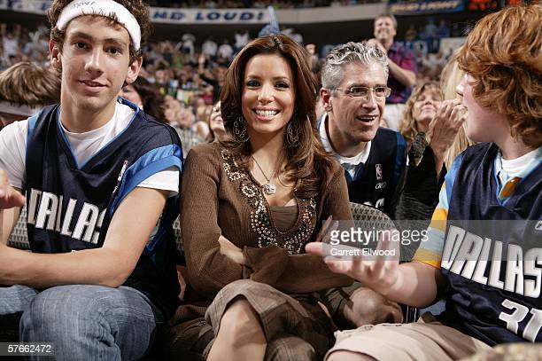 Actress Eva Longoria attends game six of the Western Conference Semifinals between the San Antonio Spurs and the Dallas Mavericks during the 2006 NBA...