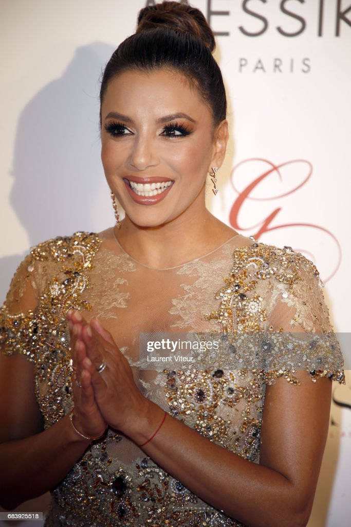 Actress Eva Longoria attends Global Gift Gala 2017 at Hotel George V on May 16, 2017 in Paris, France.