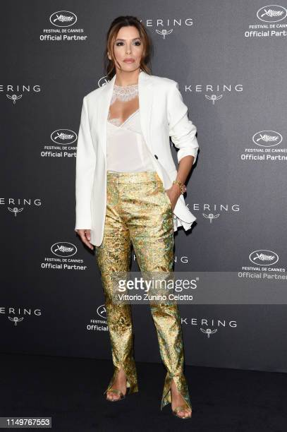 Actress Eva Longoria attends Kering Talks Women In Motion at Hotel Majestic on May 17, 2019 in Cannes, France.