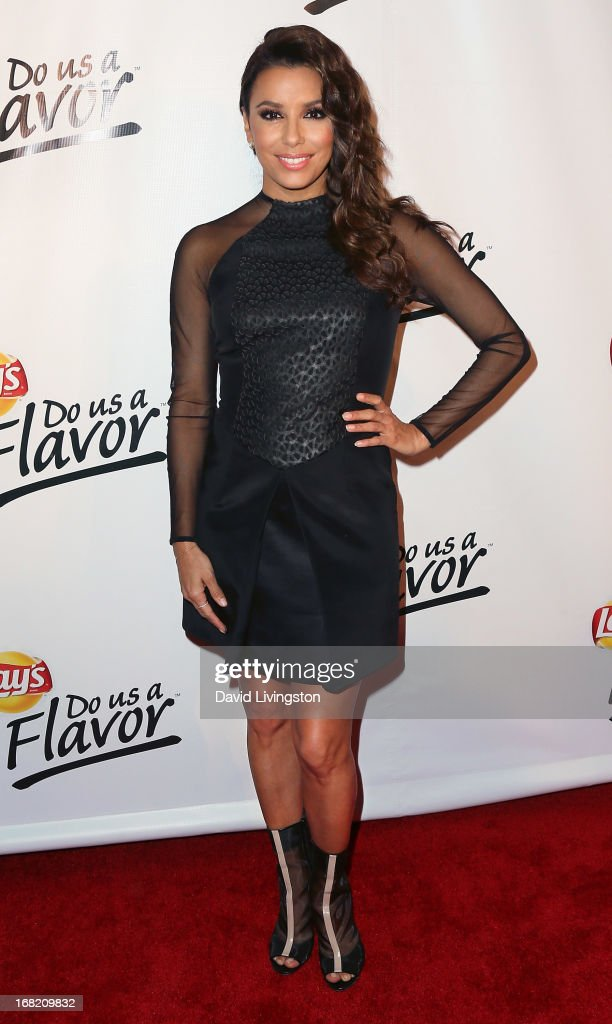 Actress Eva Longoria attends Lay's 'Do Us a Flavor' contest hosted by Eva Longoria at Beso on May 6, 2013 in Hollywood, California.