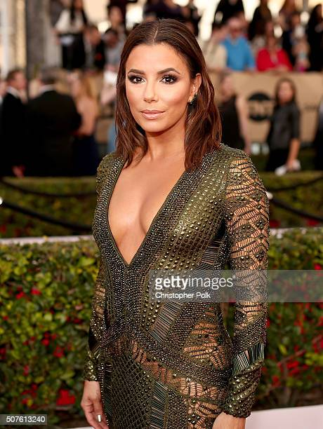 Actress Eva Longoria attends The 22nd Annual Screen Actors Guild Awards at The Shrine Auditorium on January 30 2016 in Los Angeles California...