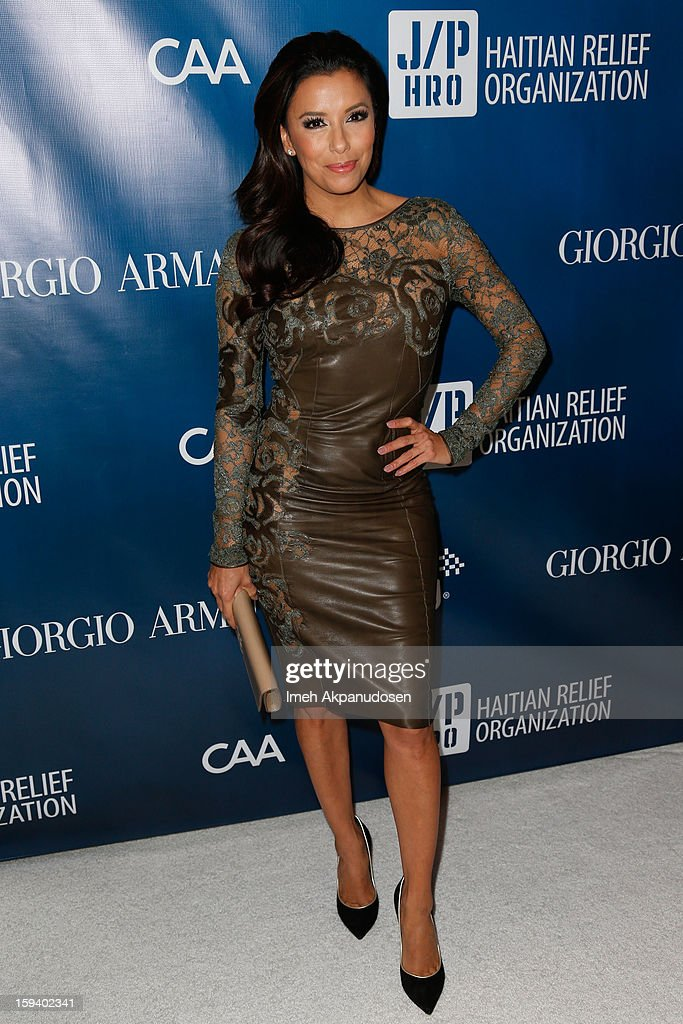 Actress Eva Longoria attends the 2nd Annual Sean Penn and Friends Help Haiti Home Gala benefiting J/P HRO presented by Giorgio Armani at Montage Hotel on January 12, 2013 in Los Angeles, California.