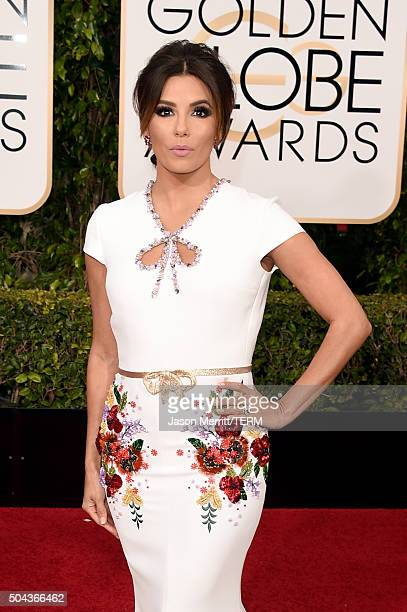 Actress Eva Longoria attends the 73rd Annual Golden Globe Awards held at the Beverly Hilton Hotel on January 10 2016 in Beverly Hills California