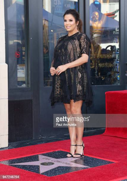 Actress Eva Longoria attends the ceremony to honor her with a Star on The Hollywood Walk Of Fame on April 16 2018 in Hollywood California