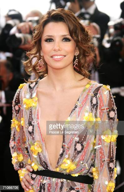 US actress Eva Longoria attends the 'El Laberinto Del Fauno' premiere at the Palais des Festivals during the 59th International Cannes Film Festival...