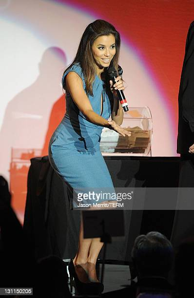 Actress Eva Longoria attends The Fulfillment Fund's 2011 Stars Gala held at The Beverly Hilton Hotel on November 1 2011 in Beverly Hills California