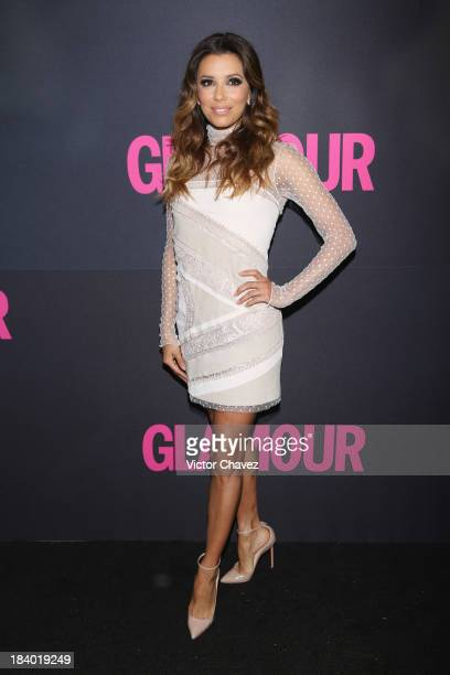Actress Eva Longoria attends the Glamour Magazine 15th Anniversary at Casino Del Bosque on October 10 2013 in Mexico City Mexico