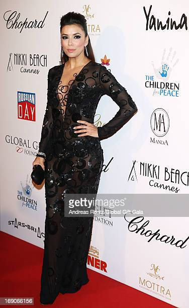 Actress Eva Longoria attends the 'Global Gift Gala' 2013 presented by Eva Longoria at Carlton Hotel on May 19, 2013 in Cannes, France.
