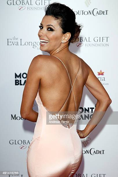 Actress Eva Longoria attends the Global Gift Gala hosted by Eva Longoria during the 67th Annual Cannes Film Festival on May 16 2014 in Cannes France