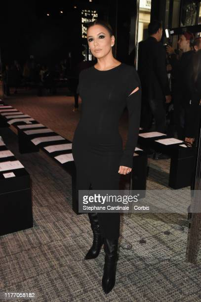 Actress Eva Longoria attends the Guy Laroche Womenswear Spring/Summer 2020 show as part of Paris Fashion Week on September 25 2019 in Paris France
