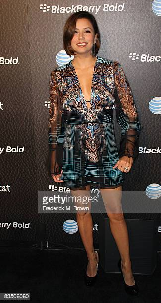 Actress Eva Longoria attends the Launch Party for the New Blackberry Bold telephone on October 30 2008 in Beverly Hills California