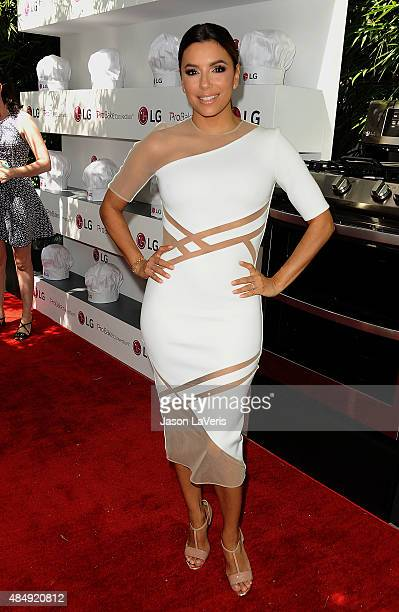 Actress Eva Longoria attends the LG 'Fam To Table' series at The Washbow on August 22 2015 in Culver City California
