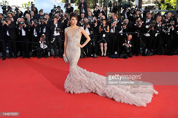 Actress Eva Longoria attends the opening ceremony and Moonrise Kingdom premiere during the 65th Annual Cannes Film Festival at Palais des Festivals...