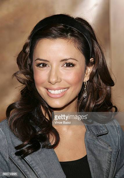 Actress Eva Longoria attends the opening of fine jeweler Harry Winston's flagship store on Rodeo Drive on January 11 2006 in Beverly Hills California