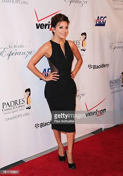 Actress Eva Longoria attends the Padres Contra El Cancer 13th annual El Sueno De Esperanza Gala on September 24 2013 in Los Angeles California