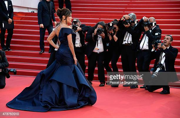 Actress Eva Longoria attends the Premiere of Carol during the 68th annual Cannes Film Festival on May 17 2015 in Cannes France