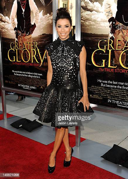 Actress Eva Longoria attends the premiere of For Greater Glory at AMPAS Samuel Goldwyn Theater on May 31 2012 in Beverly Hills California