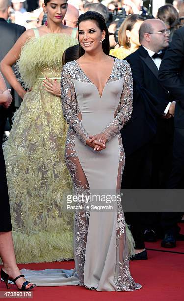 Actress Eva Longoria attends the Premiere of Inside Out during the 68th annual Cannes Film Festival on May 18 2015 in Cannes France