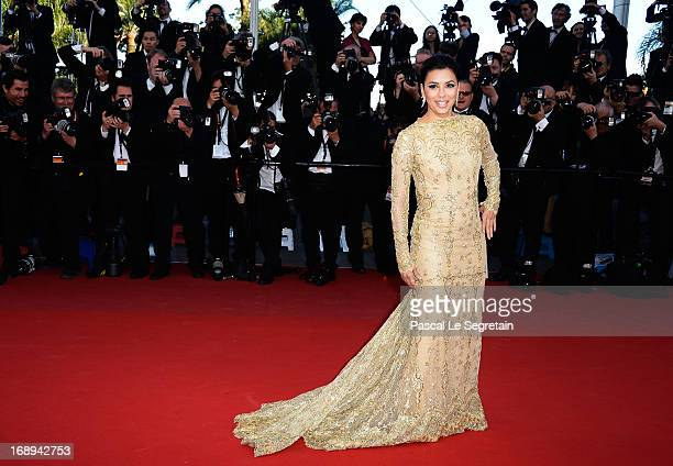 Actress Eva Longoria attends the Premiere of 'Le Passe' during The 66th Annual Cannes Film Festival at Palais des Festivals on May 17 2013 in Cannes...
