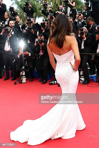 Actress Eva Longoria attends the 'Saint Laurent' Premiere at the 67th Annual Cannes Film Festival on May 17 2014 in Cannes France