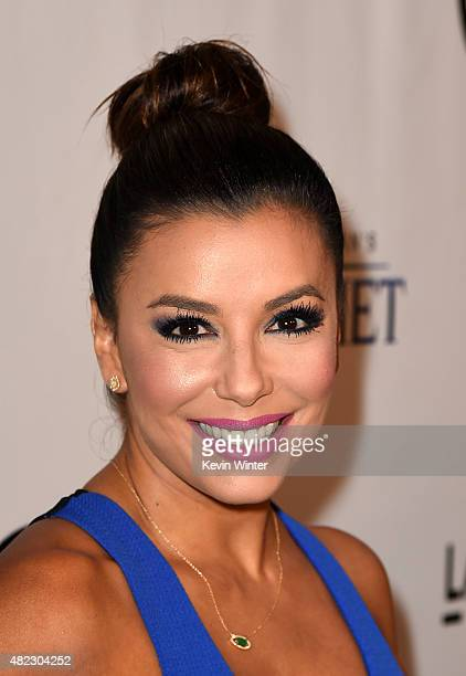 Actress Eva Longoria attends the screening of GKIDS' 'Kahlil Gibran's the Prophet' at Bing Theatre at LACMA on July 29 2015 in Los Angeles California