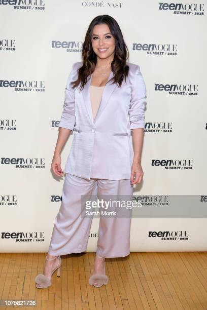 Actress Eva Longoria attends the Teen Vogue Summit at 72andSunny on December 1 2018 in Los Angeles California