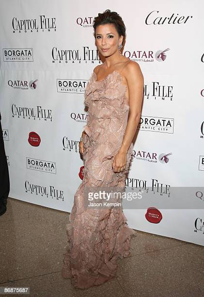 Actress Eva Longoria attends the White House Correspondents' dinner after party hosted by Capitol File at Corcoran Gallery of Art on May 9 2009 in...