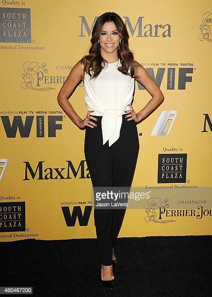 Actress Eva Longoria attends the Women In Film 2014 Crystal Lucy Awards at the Hyatt Regency Century Plaza on June 11 2014 in Century City California