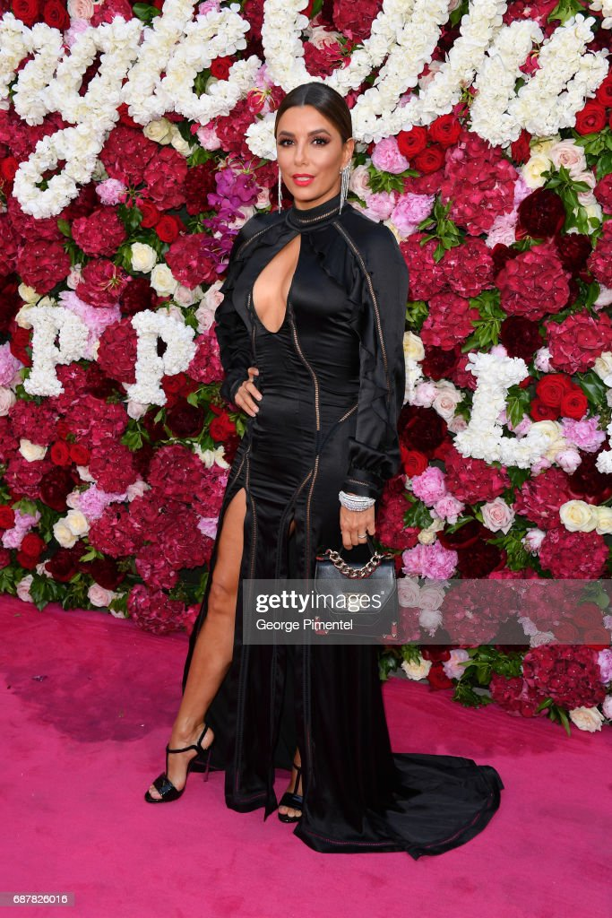 Actress Eva Longoria attends the/walks the runway at the Philipp Plein Cruise Show 2018 during the 70th annual Cannes Film Festival at on May 24, 2017 in Cannes, France.