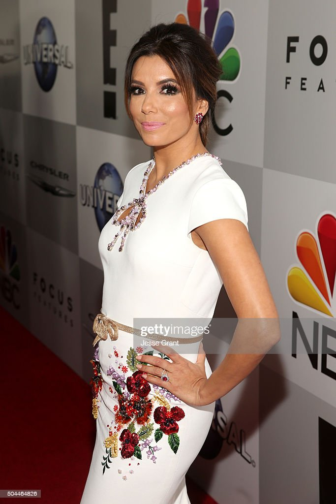 Actress Eva Longoria attends Universal, NBC, Focus Features and E! Entertainment Golden Globe Awards After Party sponsored by Chrysler at The Beverly Hilton Hotel on January 10, 2016 in Beverly Hills, California.