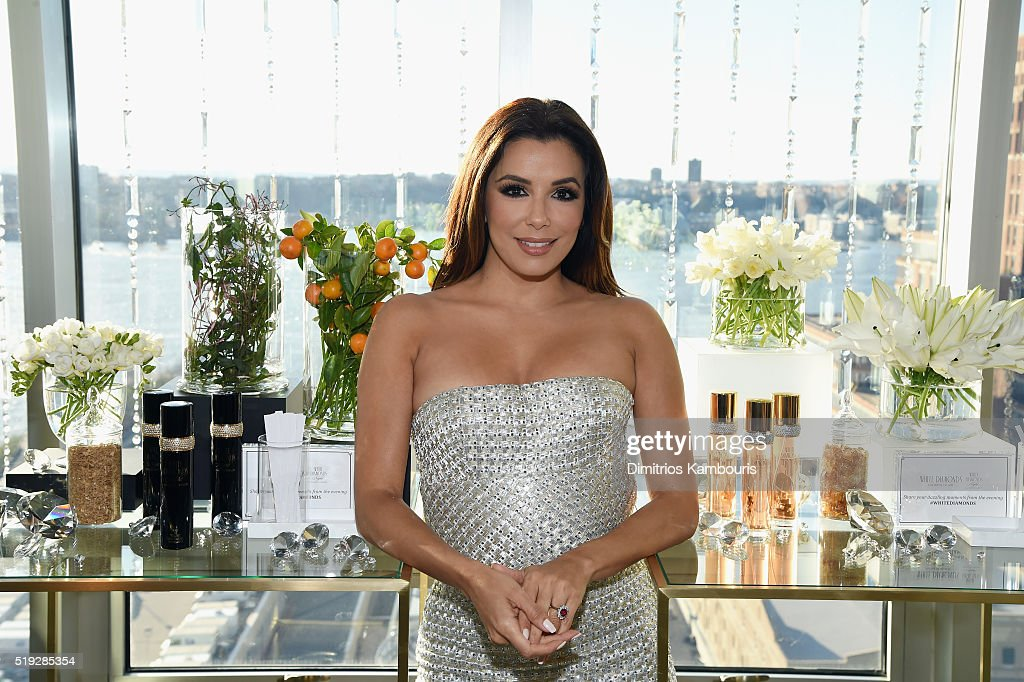 Actress Eva Longoria Co-Hosts White Diamonds Elizabeth Taylor Fragrance 25th Anniversary Celebration And White Diamonds Night Launch