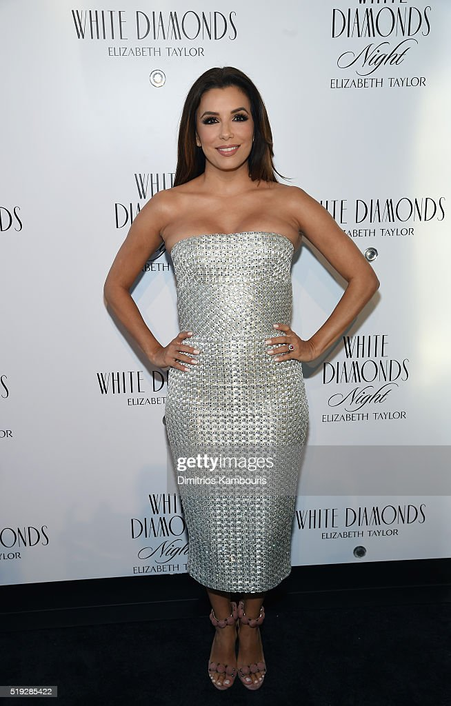 Actress Eva Longoria Co-Hosts White Diamonds Elizabeth Taylor Fragrance 25th Anniversary Celebration And White Diamonds Night Launch : News Photo
