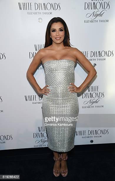 Actress Eva Longoria co-hosts White Diamonds Elizabeth Taylor fragrance 25th anniversary celebration and White Diamonds Night launch at The...