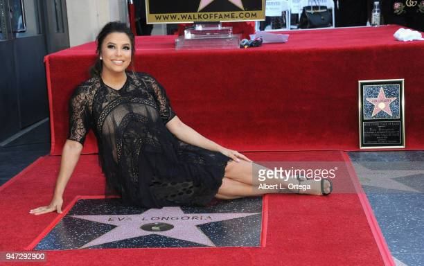 Actress Eva Longoria Honored With Star On The Hollywood Walk Of Fame on April 16 2018 in Hollywood California