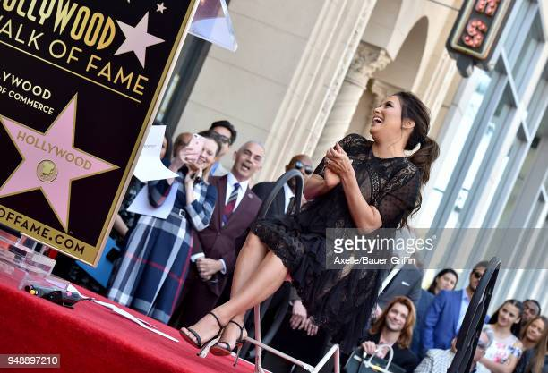 Actress Eva Longoria is honored with star on the Hollywood Walk of Fame on April 16 2018 in Hollywood California