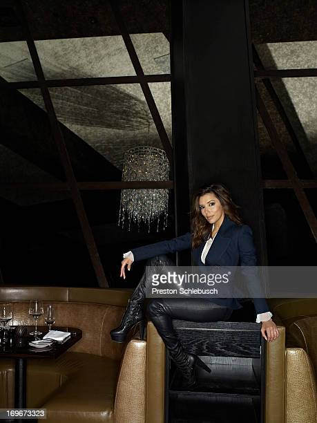 Actress Eva Longoria is photographed for Conde Nast Traveler Spain on May 6 2010 at her restaurant Beso in Las Vegas Nevada