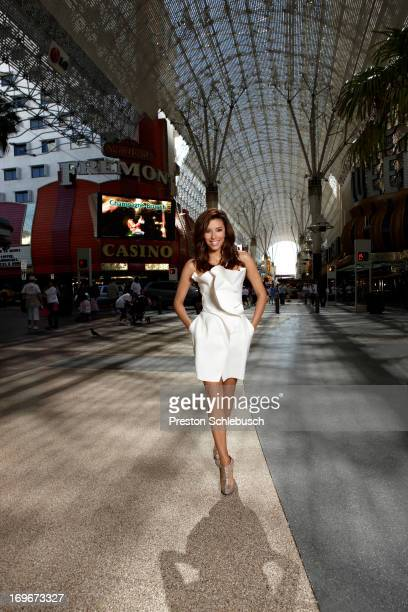 Actress Eva Longoria is photographed for Conde Nast Traveler Spain on May 6 2010 on Fremont Street in Las Vegas Nevada
