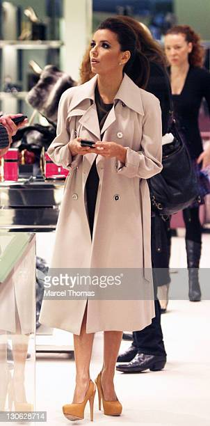 Actress Eva Longoria is seen at the Prada store on Madison Avenue on October 27 2011 in New York City