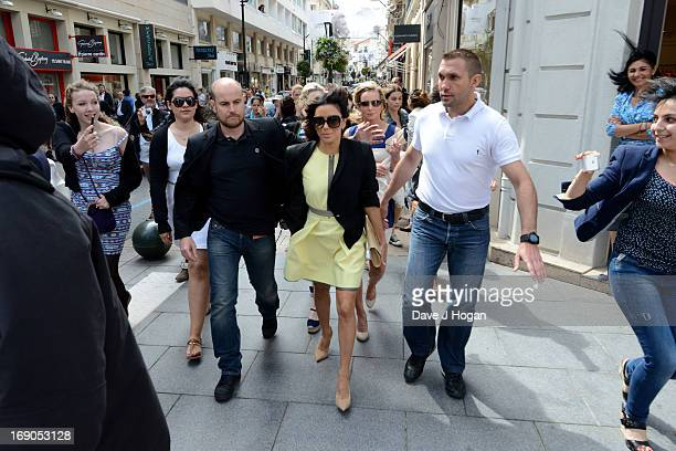 Actress Eva Longoria is seen during the The 66th Annual Cannes Film Festival on May 19 2013 in Cannes France