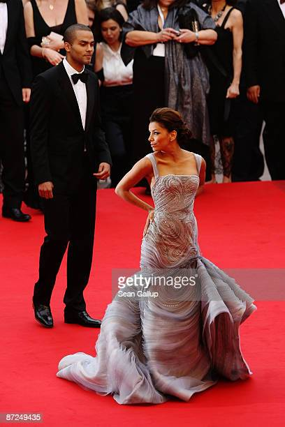 Actress Eva Longoria Parker and Tony Parker attend the Bright Star Premiere held at the Palais Des Festivals during the 62nd International Cannes...