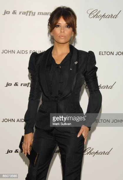 Actress Eva Longoria Parker arrives at the 17th Annual Elton John AIDS Foundation's Academy Award Viewing Party held at the Pacific Design Center on...