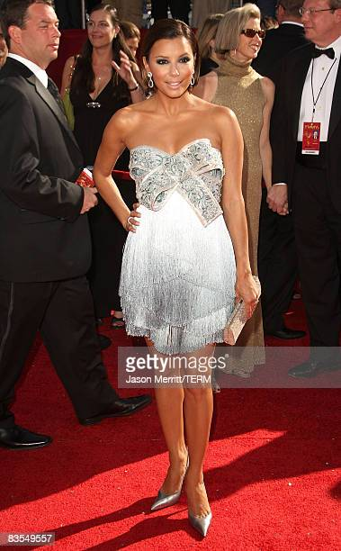 Actress Eva Longoria Parker arrives at the 60th Primetime Emmy Awards at the Nokia Theater on September 21 2008 in Los Angeles California
