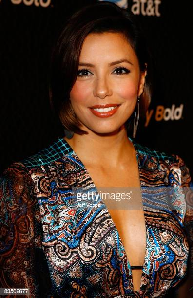 Actress Eva Longoria Parker arrives at the Blackberry Bold launch party at a private residence on October 30 2008 in Beverly Hills California