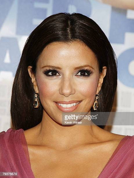 Actress Eva Longoria Parker arrives at the premiere of New Line Cinema's Over Her Dead Body at the Cinerama Dome Theater on January 29 2008 in Los...