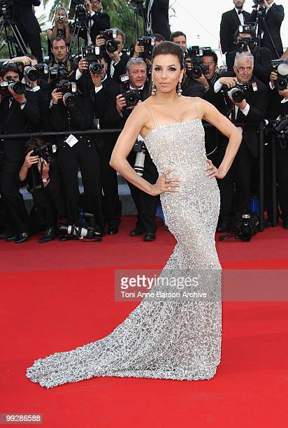 Actress Eva Longoria Parker attends the Premiere of 'On Tour' at the Palais des Festivals during the 63rd Annual International Cannes Film Festival...